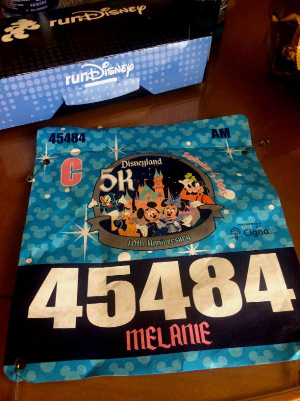 Disney Run - Bib