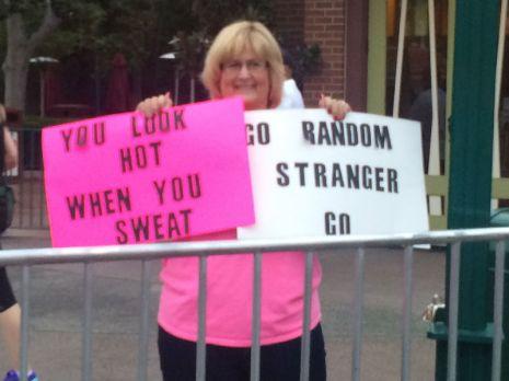 Funny Sign Lady - Disney Run