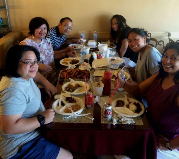 Eating Filipino Food
