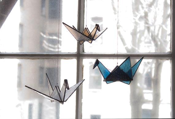 stainedglasscranes